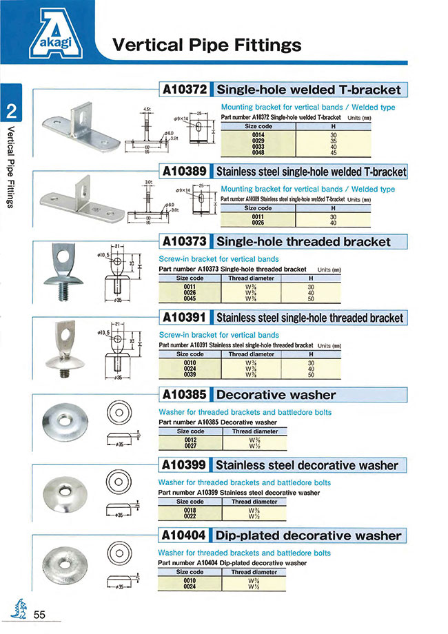 Vertical Pipe Fitting with One Hole welded T Support